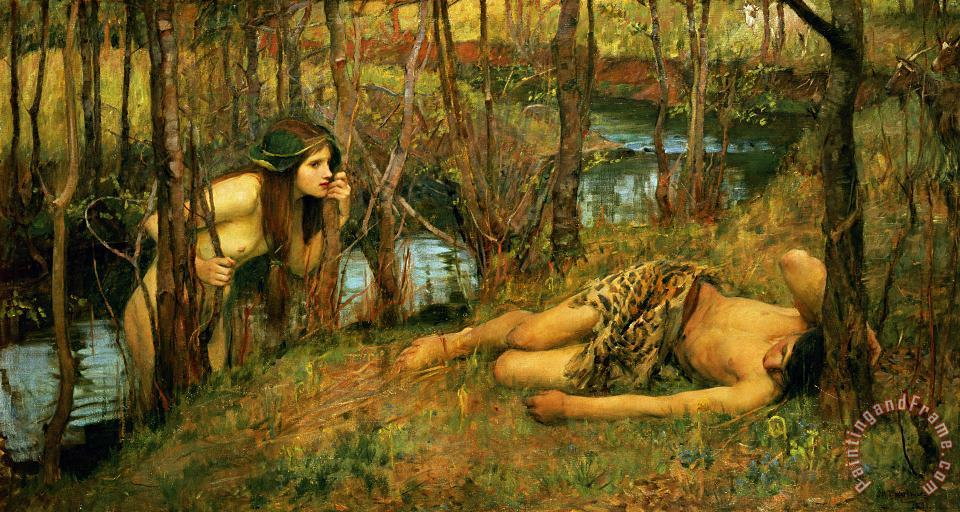 The Naiad painting - John William Waterhouse The Naiad Art Print
