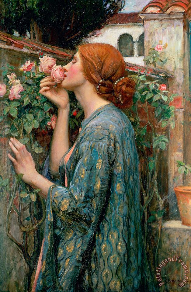 The Soul of the Rose painting - John William Waterhouse The Soul of the Rose Art Print