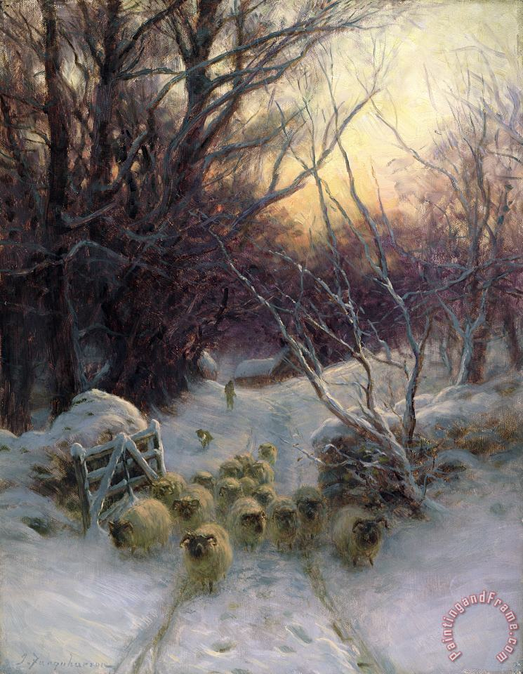Joseph Farquharson The Sun had closed the Winter Day Art Painting
