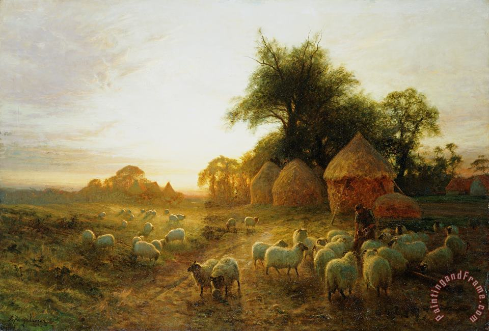 Joseph Farquharson Yon Yellow Sunset Dying in the West Art Painting