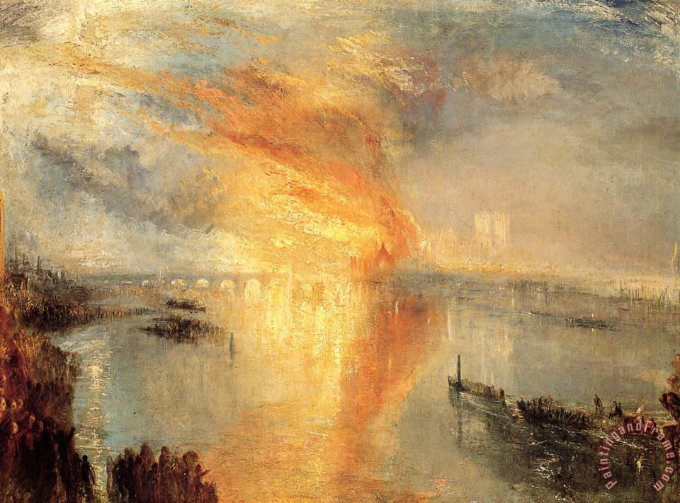 The Burning of The Houses of Parliament painting - Joseph Mallord William Turner The Burning of The Houses of Parliament Art Print