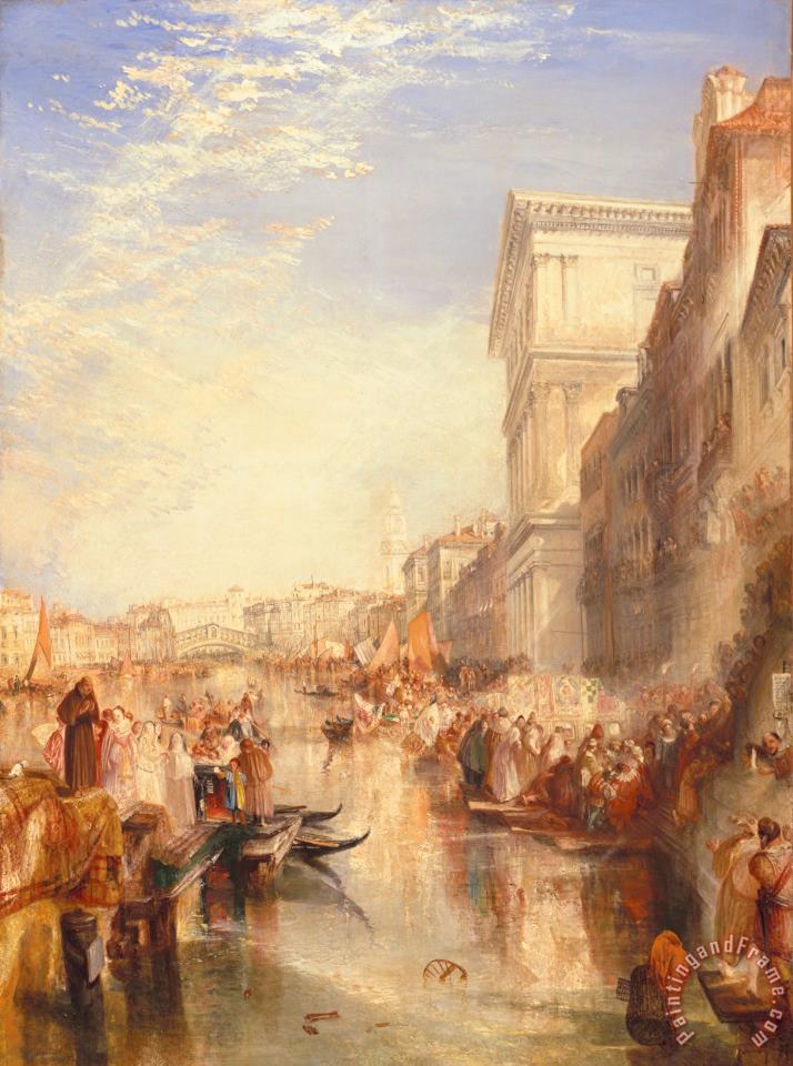The Grand Canal Scene - a Street in Venice painting - Joseph Mallord William Turner The Grand Canal Scene - a Street in Venice Art Print