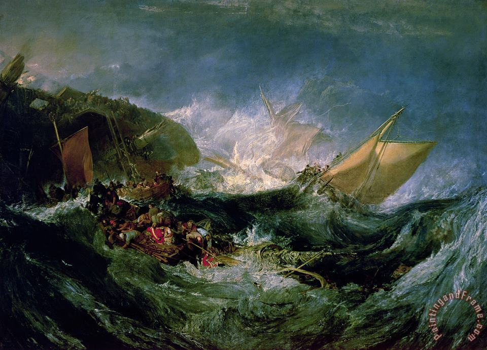 Wreck of a Transport Ship painting - Joseph Mallord William Turner Wreck of a Transport Ship Art Print