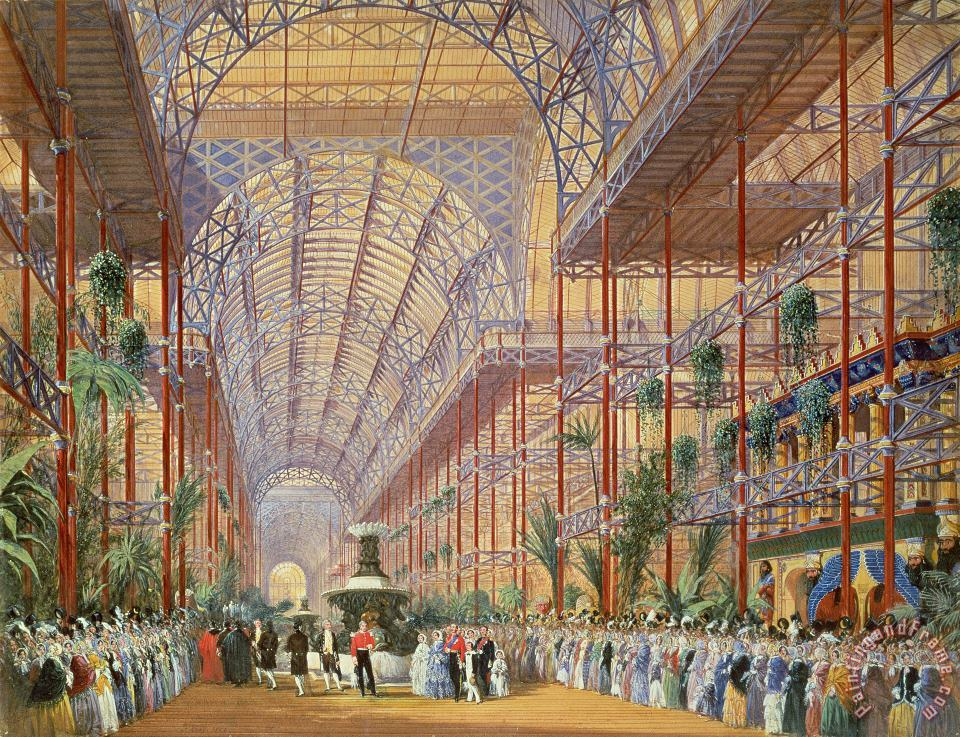 Joseph Nash Queen Victoria Opening the 1862 Exhibition after Crystal Palace moved to Sydenham Art Painting