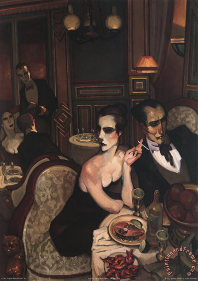 Juarez Machado A Very Special Dinner Art Painting