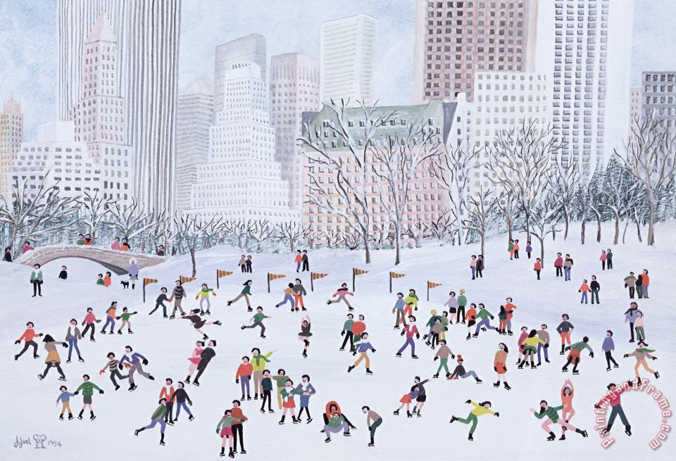 Skating Rink Central Park New York painting - Judy Joel Skating Rink Central Park New York Art Print
