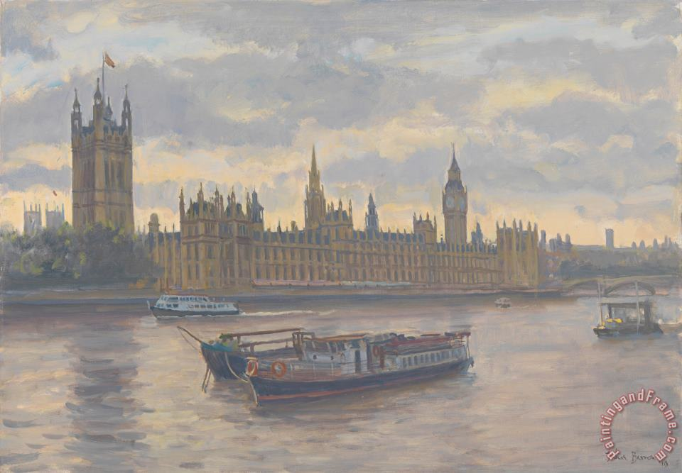 Julian Barrow Houses Of Parliament Art Print