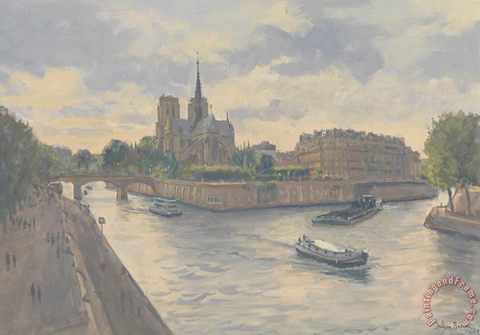 Ile De La Cite painting - Julian Barrow Ile De La Cite Art Print