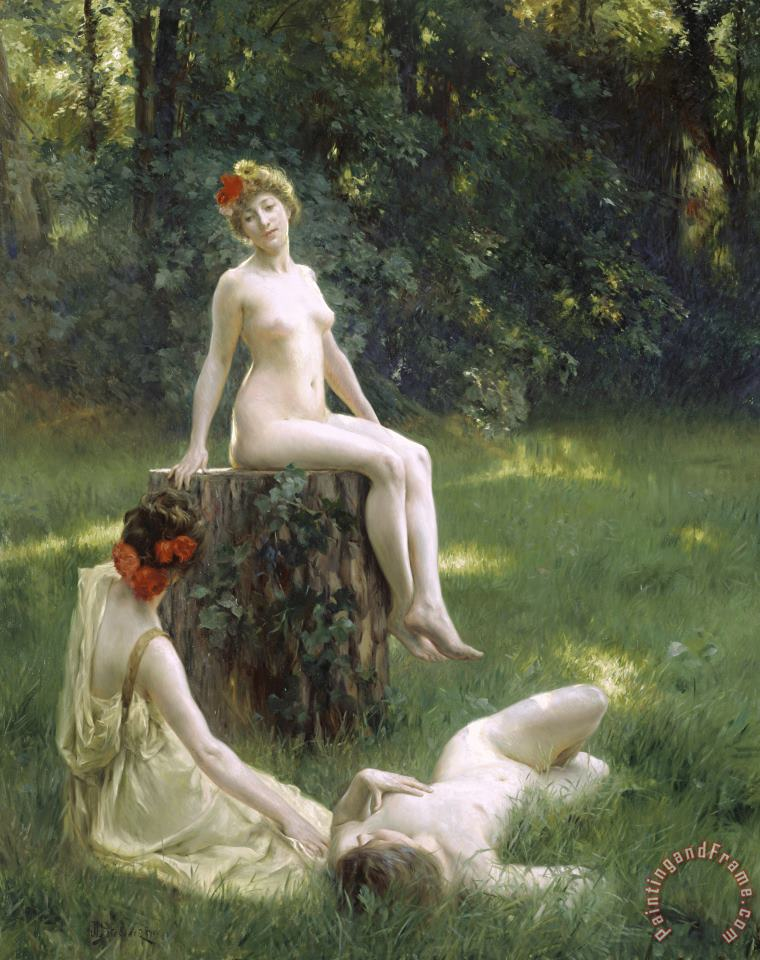 Julius Leblanc Stewart The Glade Art Print