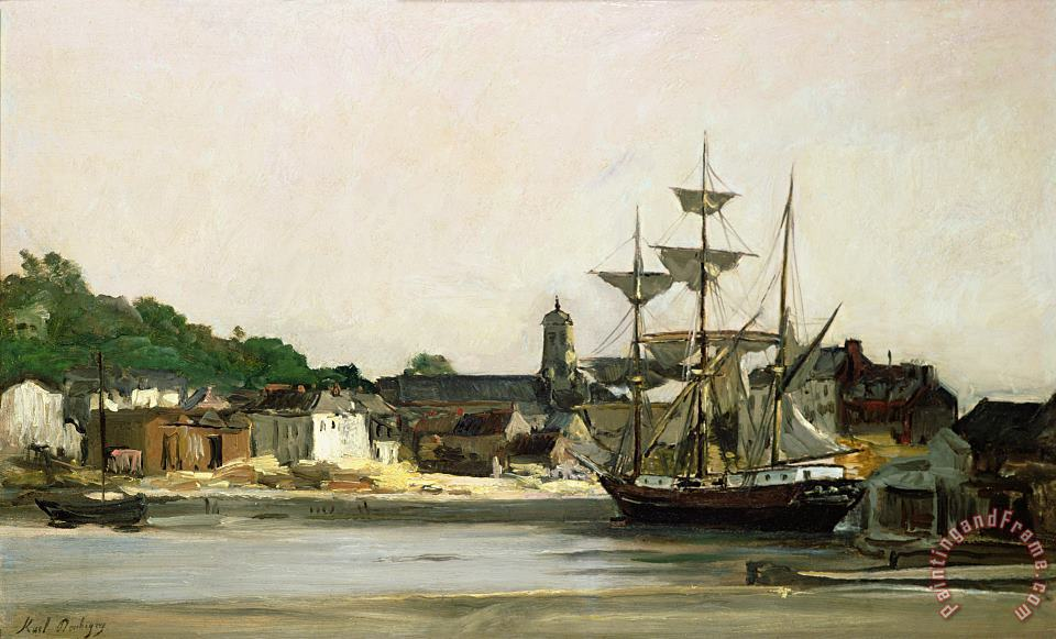 The Harbour at Honfleur painting - Karl Pierre Daubigny The Harbour at Honfleur Art Print