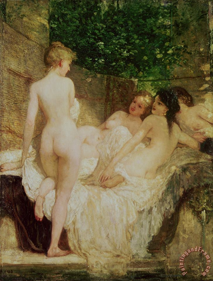 After the Bath painting - Karoly Lotz After the Bath Art Print