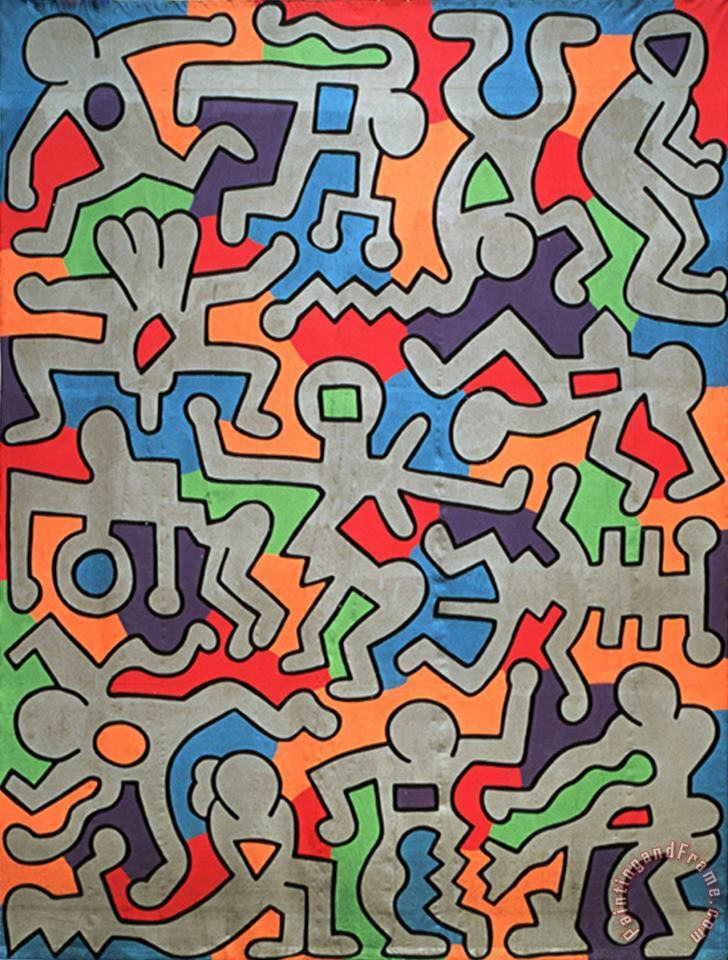 Keith Haring Palladium Art Print