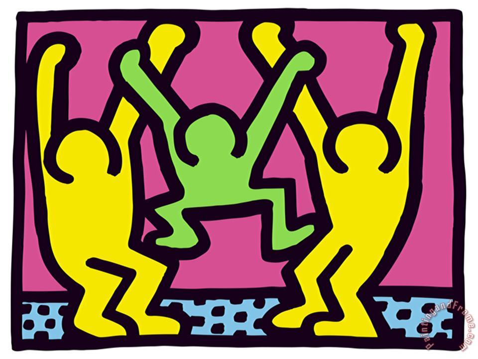 Pop Shop Family painting - Keith Haring Pop Shop Family Art Print
