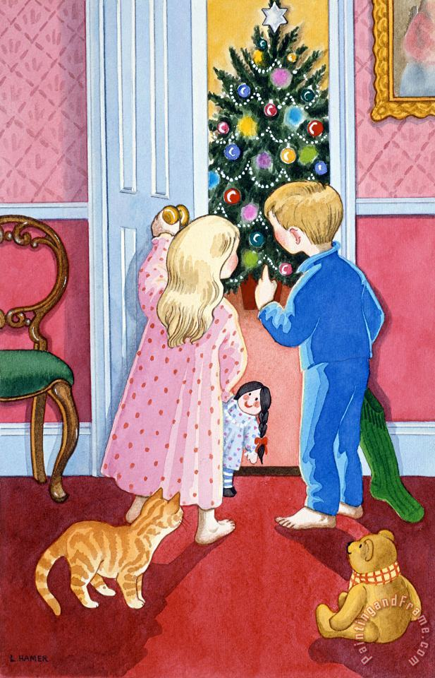 Lavinia Hamer Look At The Christmas Tree Art Painting