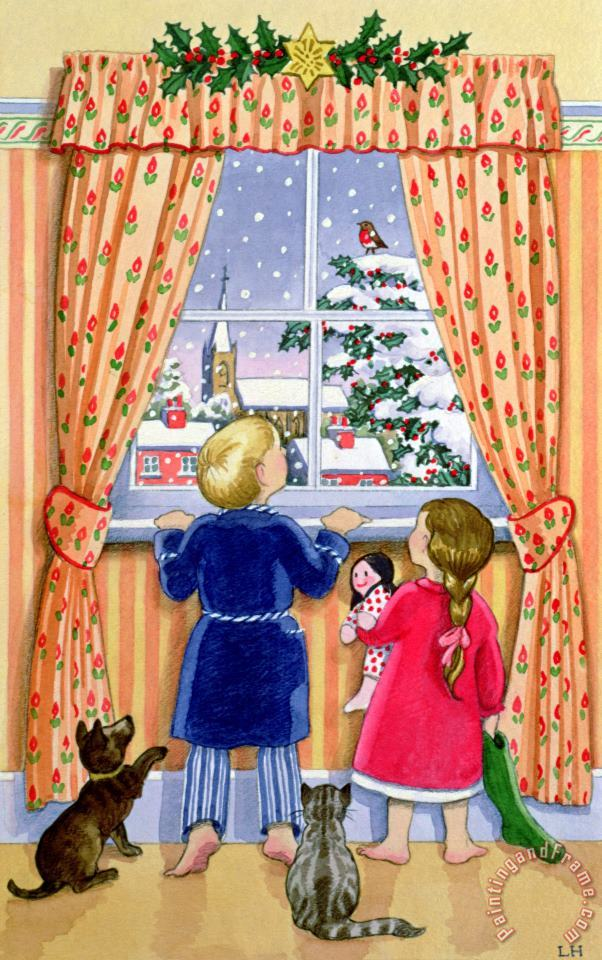 Seeing The Snow painting - Lavinia Hamer Seeing The Snow Art Print