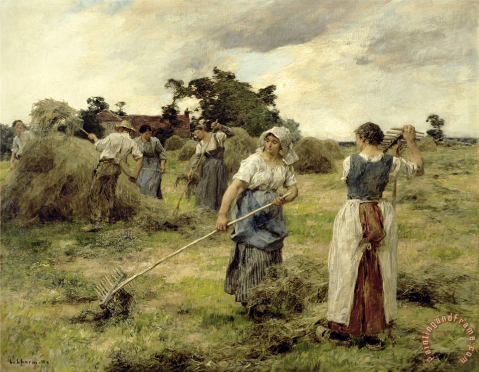 Leon Augustin Lhermitte The Harvest, Late 19th/early 20th Century Art Print