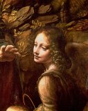 Detail of the Angel from The Virgin of the Rocks by Leonardo Da Vinci