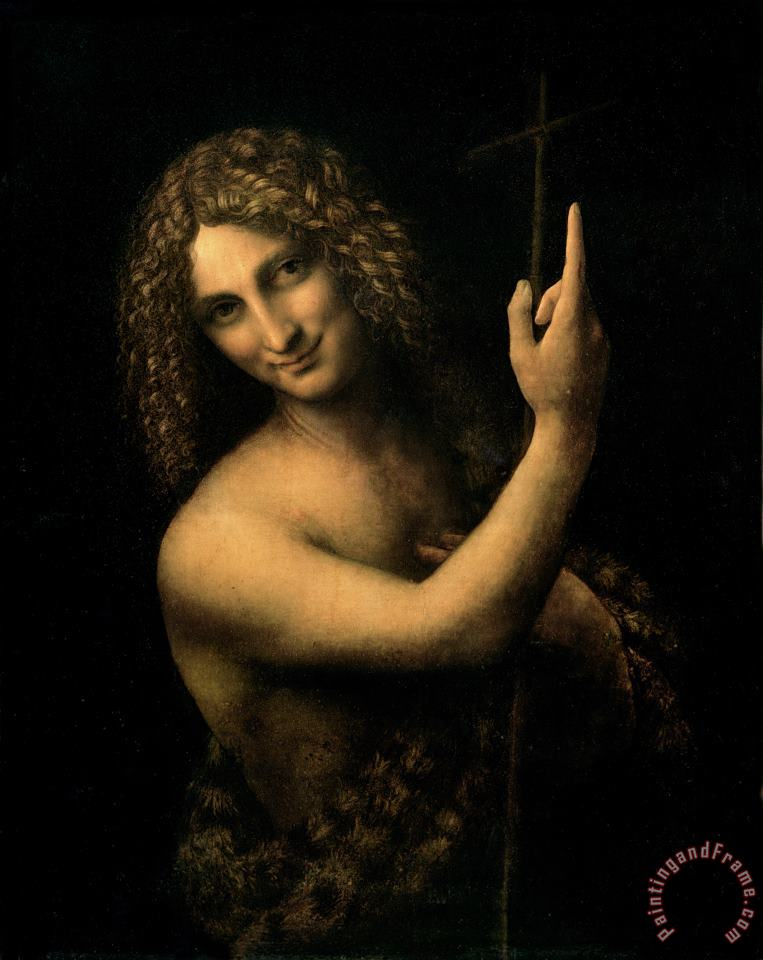 Saint John The Baptist painting - Leonardo da Vinci Saint John The Baptist Art Print