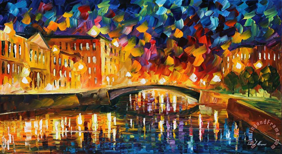Bridge Over Dreams painting - Leonid Afremov Bridge Over Dreams Art Print