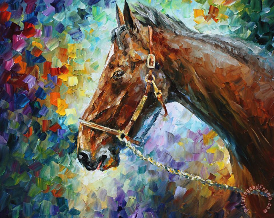 Horse - Commissioned Painting painting - Leonid Afremov Horse - Commissioned Painting Art Print