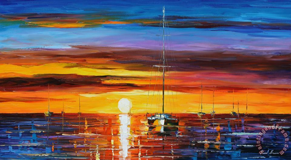 Hot Sunrise painting - Leonid Afremov Hot Sunrise Art Print