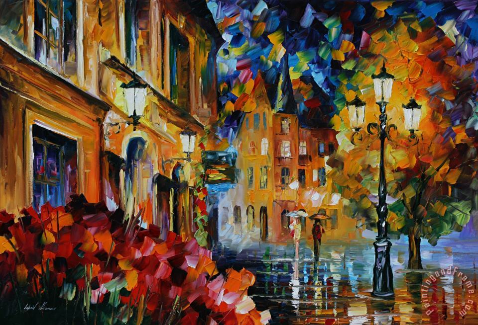 Leonid Afremov Lucky Night Art Print
