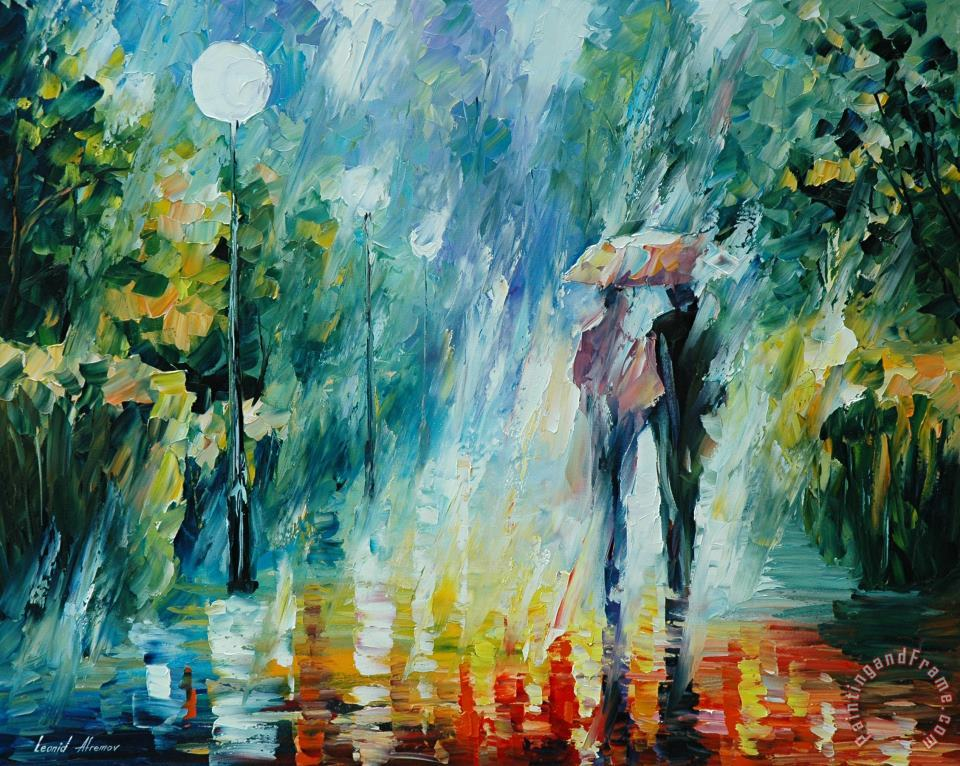 Summer Rain painting - Leonid Afremov Summer Rain Art Print