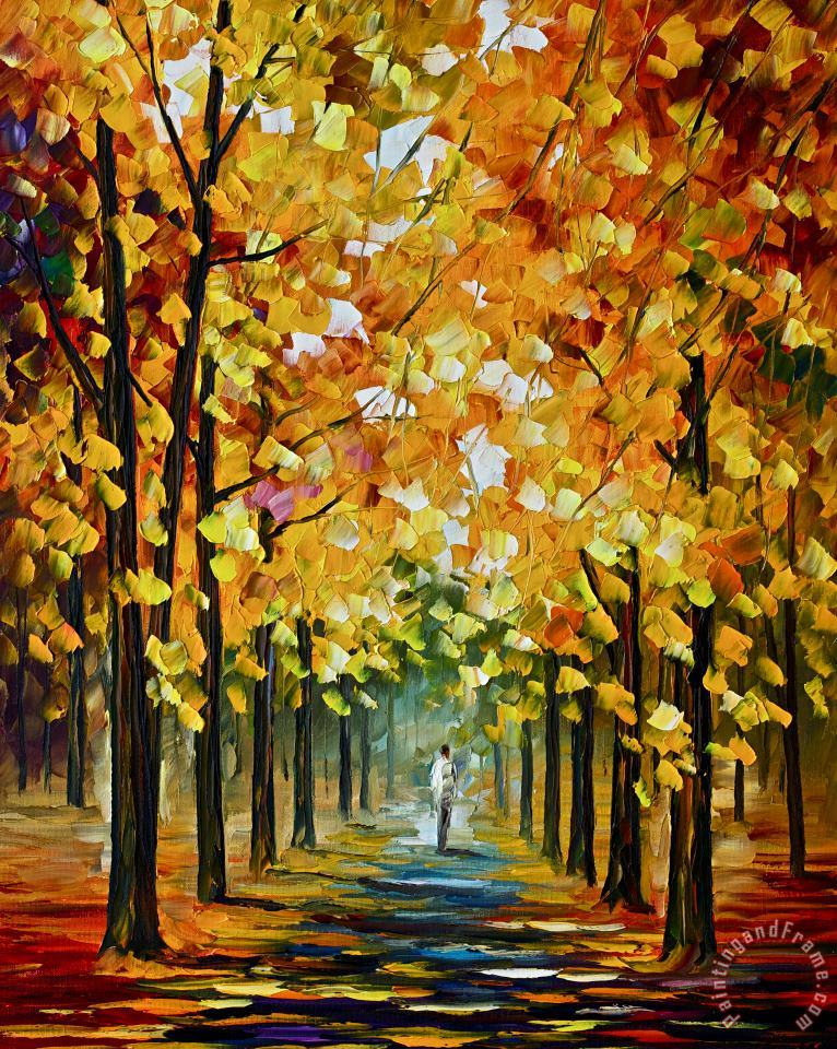 Leonid Afremov The Gold Of Fall Art Print