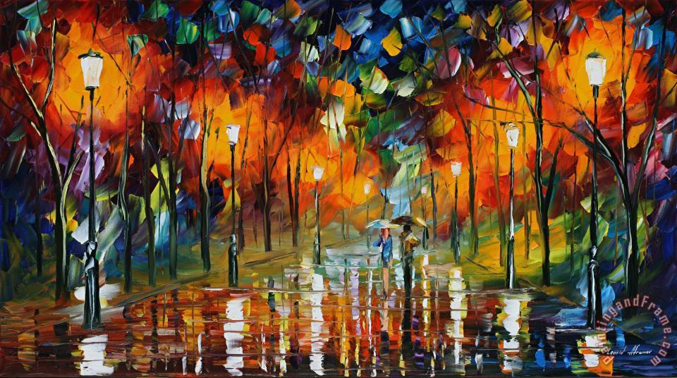 Leonid Afremov The Scent Of The Rain Art Print