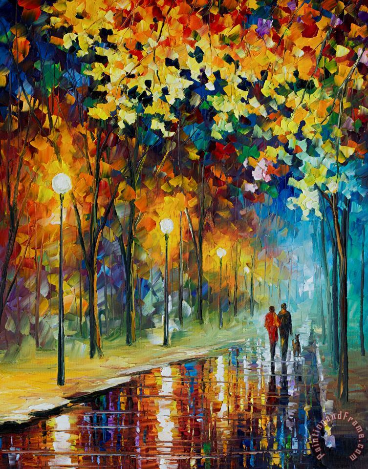 The Warmth Of Friends painting - Leonid Afremov The Warmth Of Friends Art Print