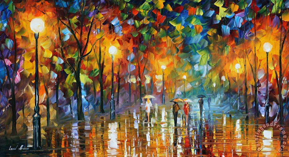 Unexpected Meeting painting - Leonid Afremov Unexpected Meeting Art Print