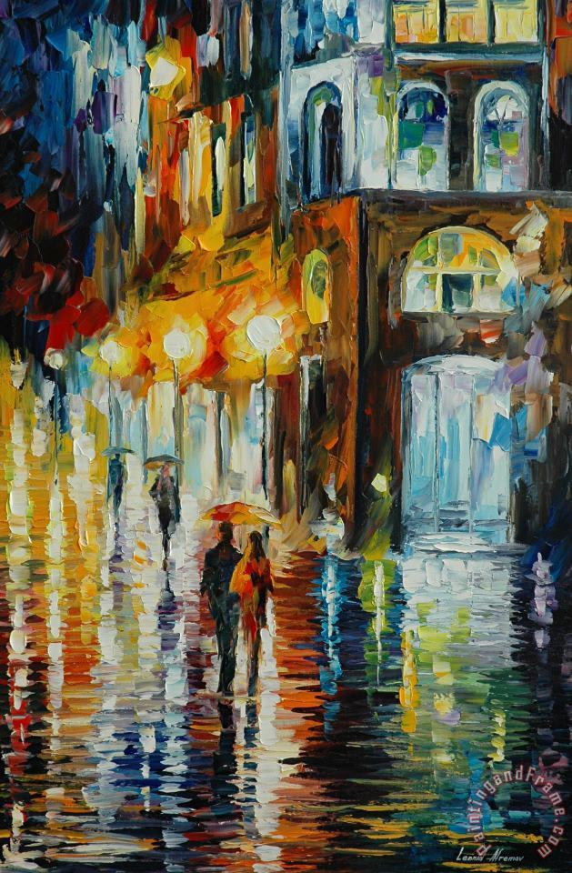 Leonid Afremov West Palm Beach - City Place Art Painting