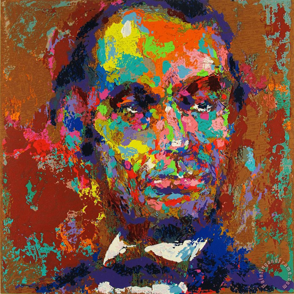 Leroy Neiman Homage to Lincoln Art Painting