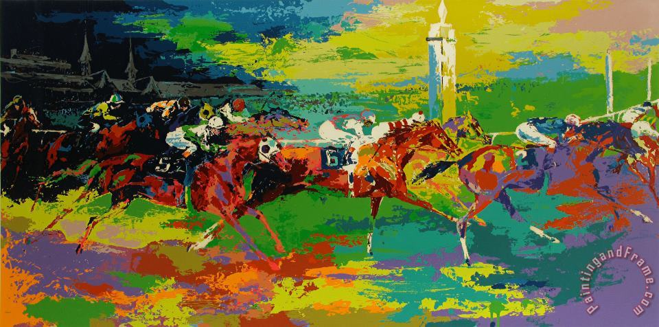 Kentucky Derby painting - Leroy Neiman Kentucky Derby Art Print