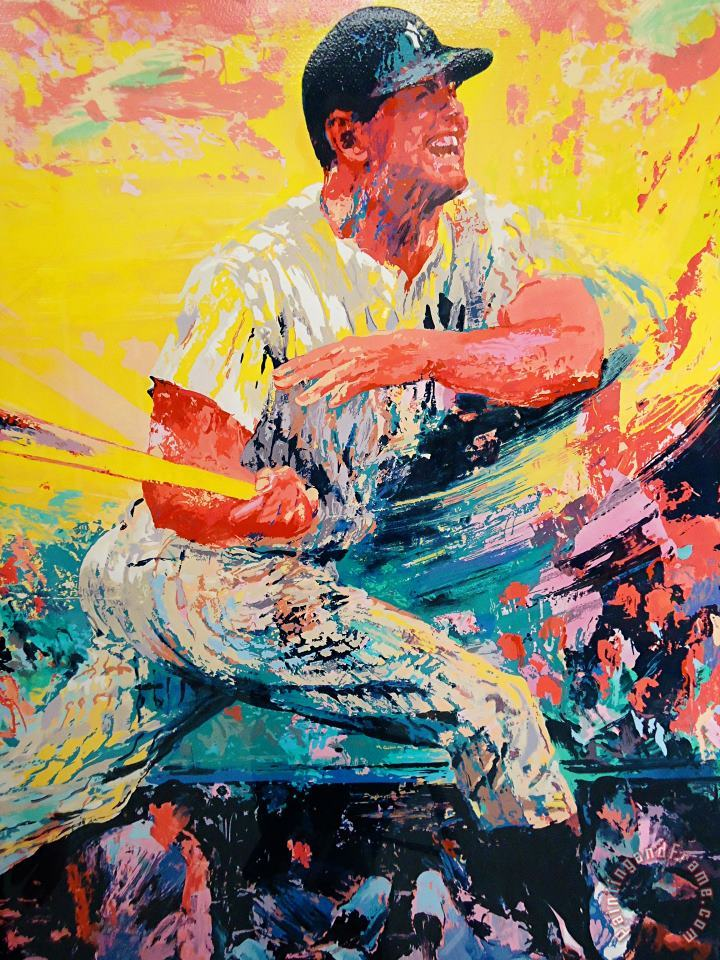 Mickey Mantle painting - Leroy Neiman Mickey Mantle Art Print