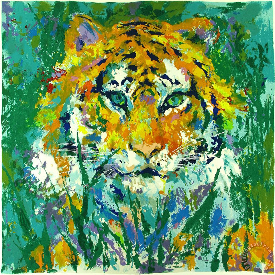 Portrait of The Tiger painting - Leroy Neiman Portrait of The Tiger Art Print