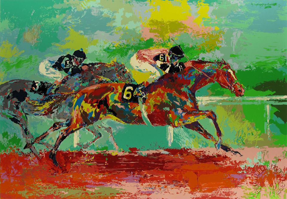 Race of The Year (affirmed And Spectacular Bid) painting - Leroy Neiman Race of The Year (affirmed And Spectacular Bid) Art Print