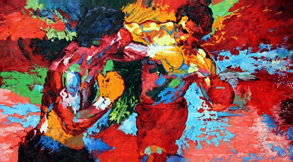 Rocky vs Apollo painting - Leroy Neiman Rocky vs Apollo Art Print