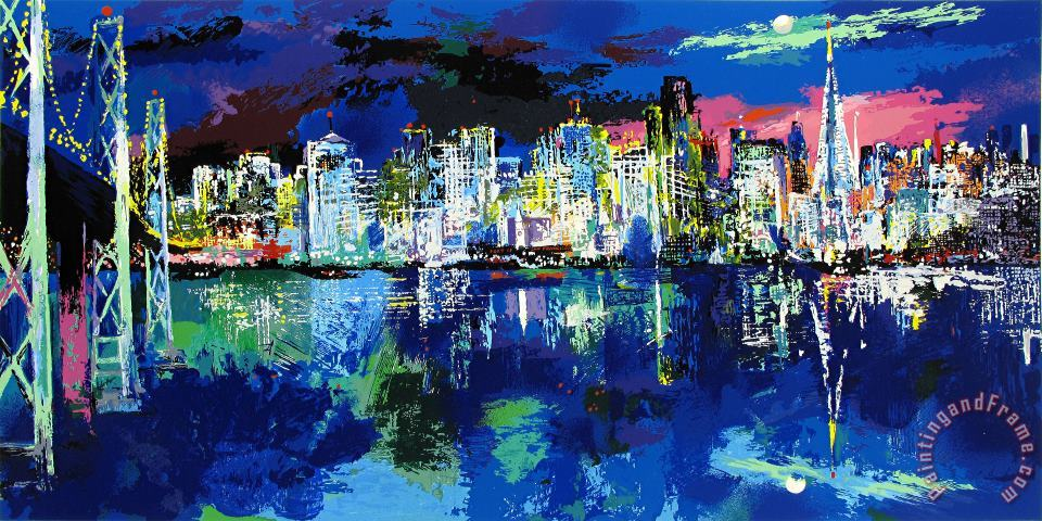 San Francisco by Night painting - Leroy Neiman San Francisco by Night Art Print