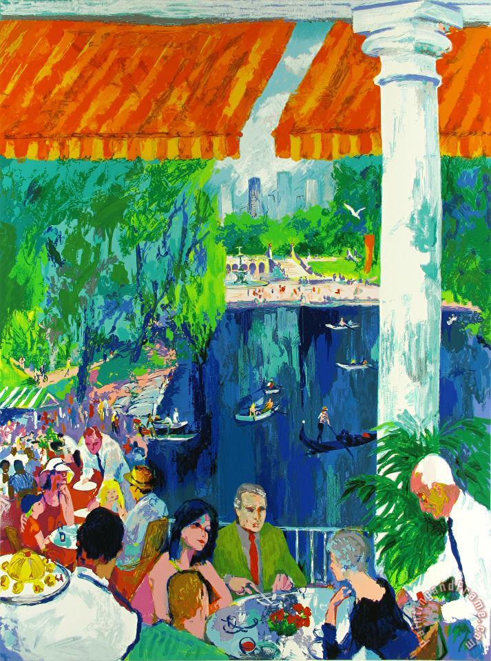 The Boathouse, Central Park painting - Leroy Neiman The Boathouse, Central Park Art Print