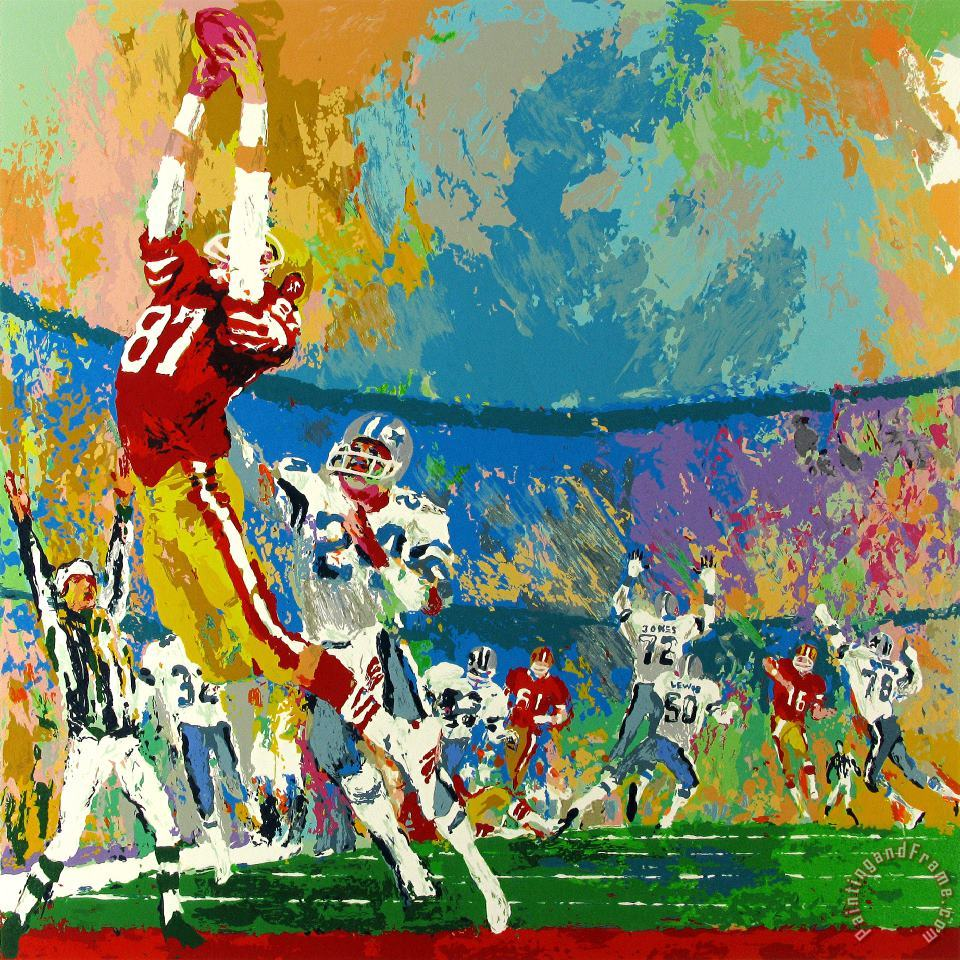 The Catch painting - Leroy Neiman The Catch Art Print