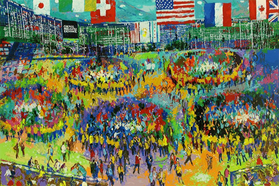 The Chicago Mercantile Exchange painting - Leroy Neiman The Chicago Mercantile Exchange Art Print