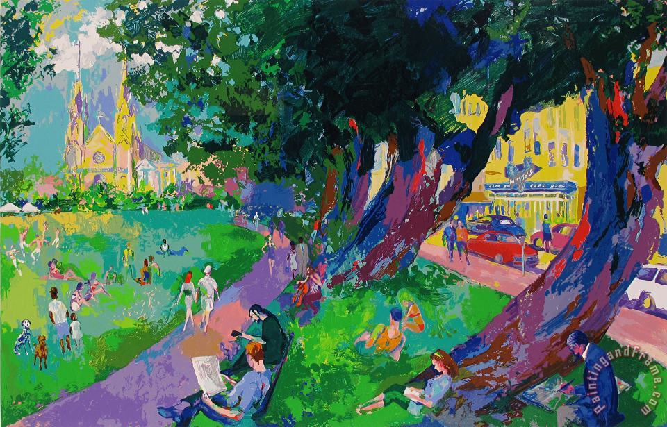 Washington Square Park painting - Leroy Neiman Washington Square Park Art Print