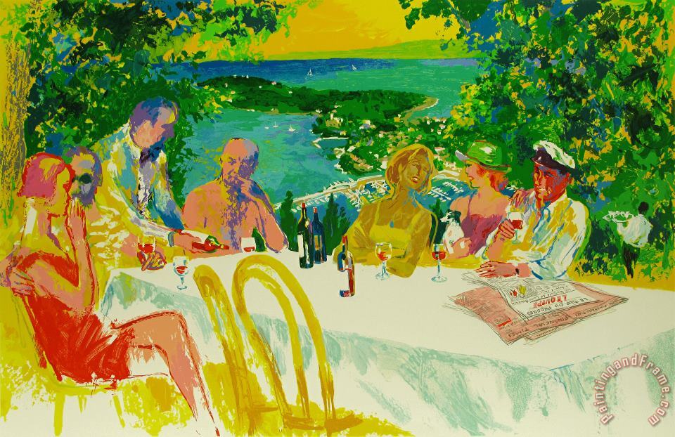 Wine Alfresco painting - Leroy Neiman Wine Alfresco Art Print