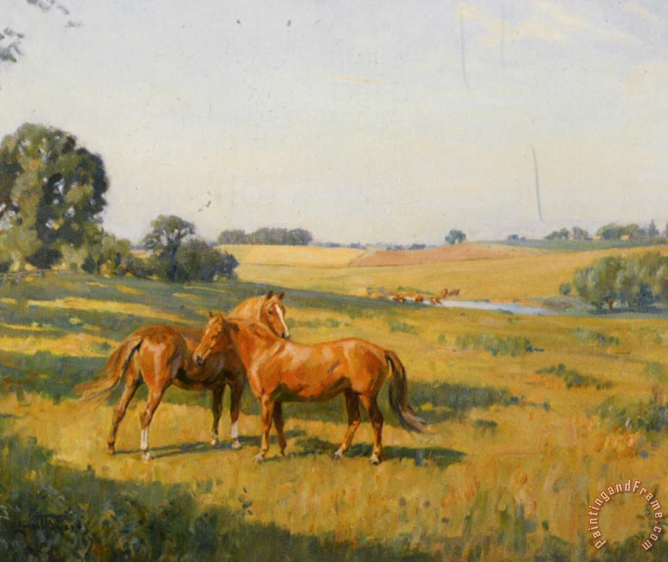Mare And Foal in a Meadow painting - Lionel Edwards Mare And Foal in a Meadow Art Print