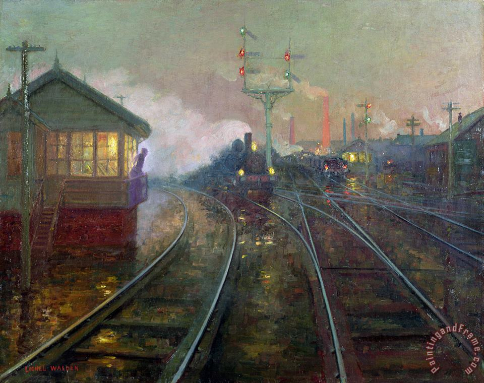 Train at Night painting - Lionel Walden Train at Night Art Print