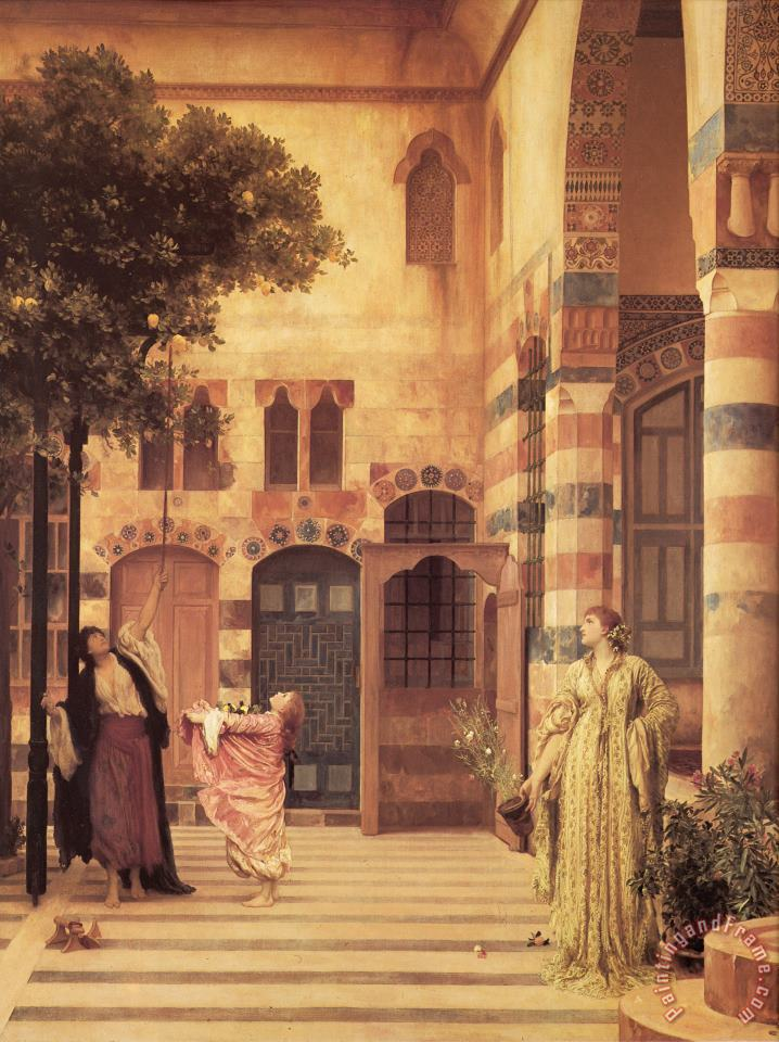 Old Damascus Jew's Quarter painting - Lord Frederick Leighton Old Damascus Jew's Quarter Art Print