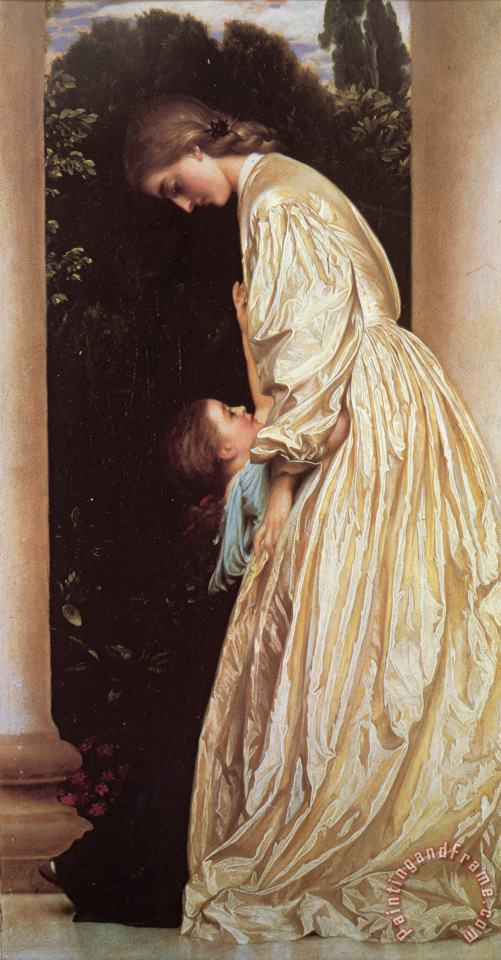 Sisters painting - Lord Frederick Leighton Sisters Art Print