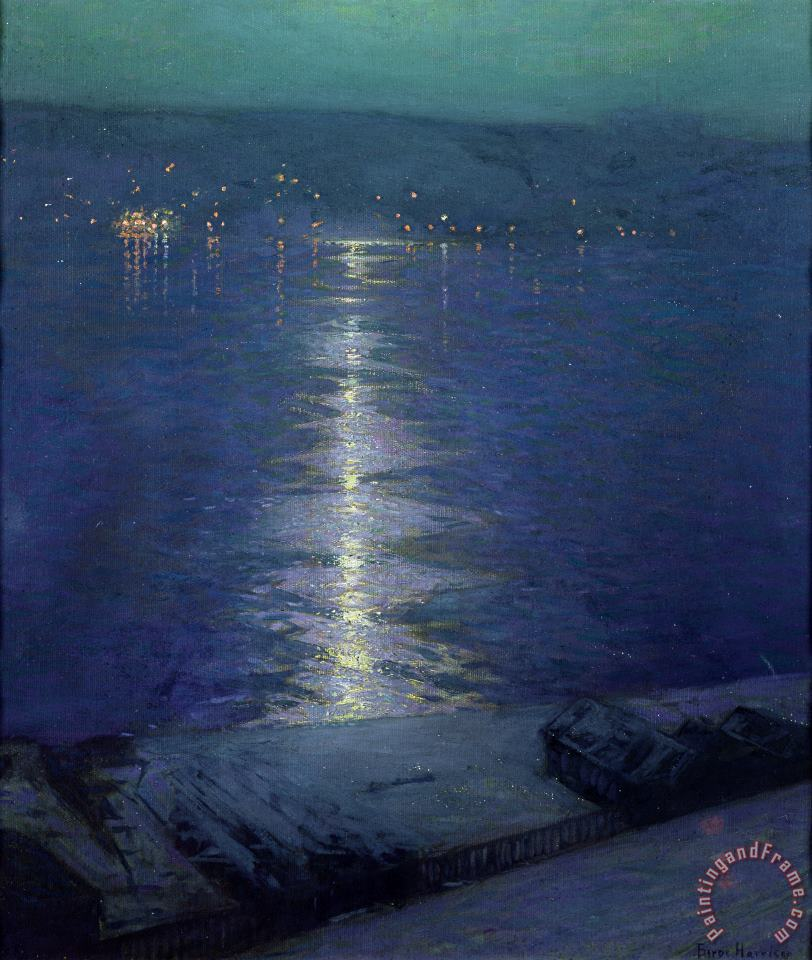 Moonlight on the River painting - Lowell Birge Harrison Moonlight on the River Art Print