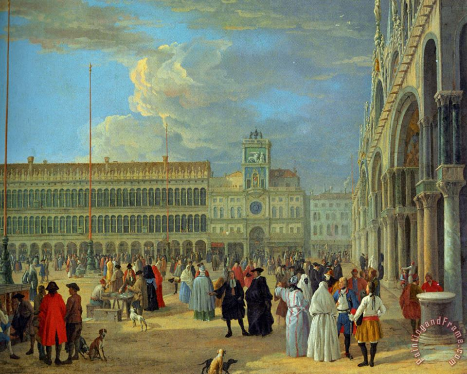 View of Piazza San Marco painting - Luca Carlevaris View of Piazza San Marco Art Print
